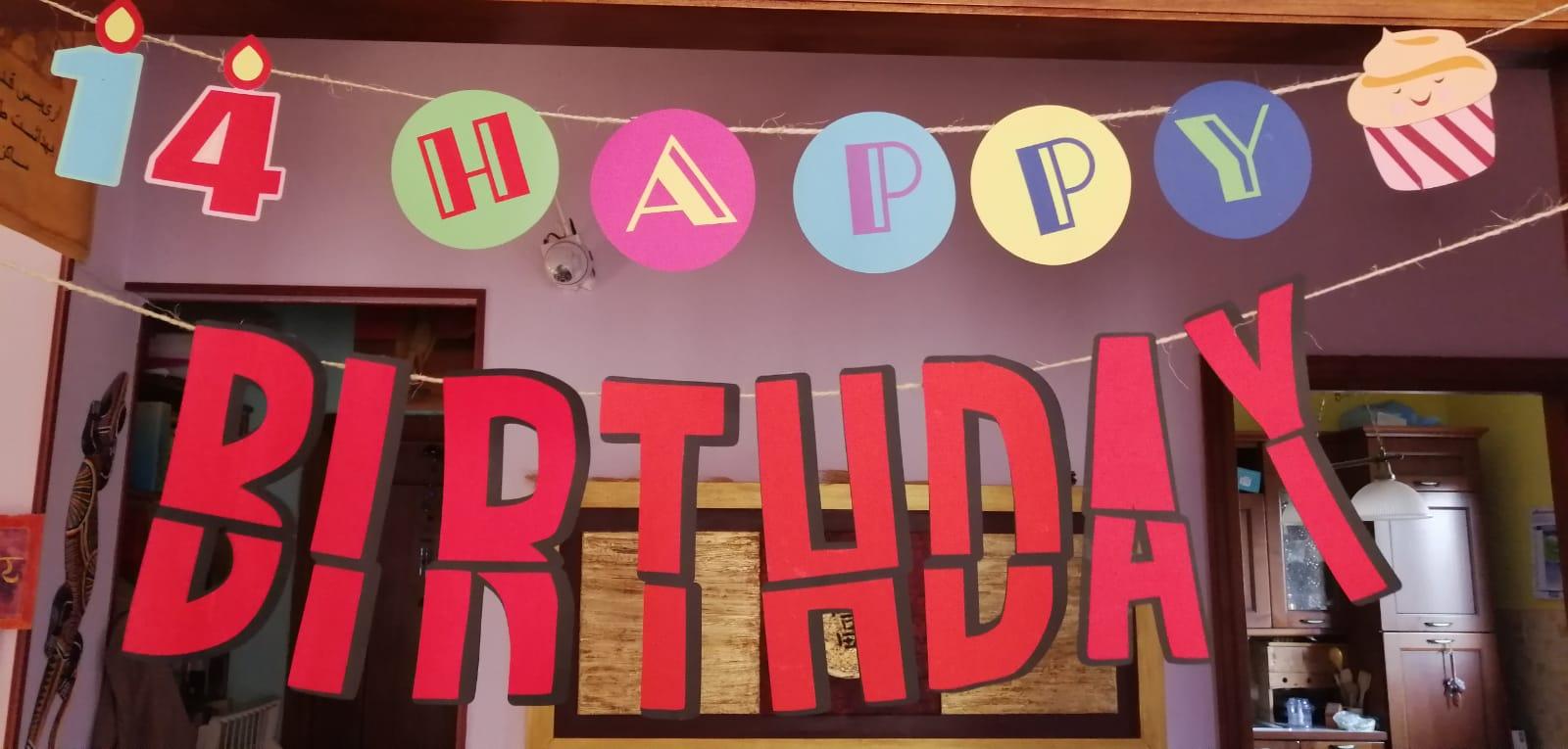 Banner fai da te per festa di compleanno