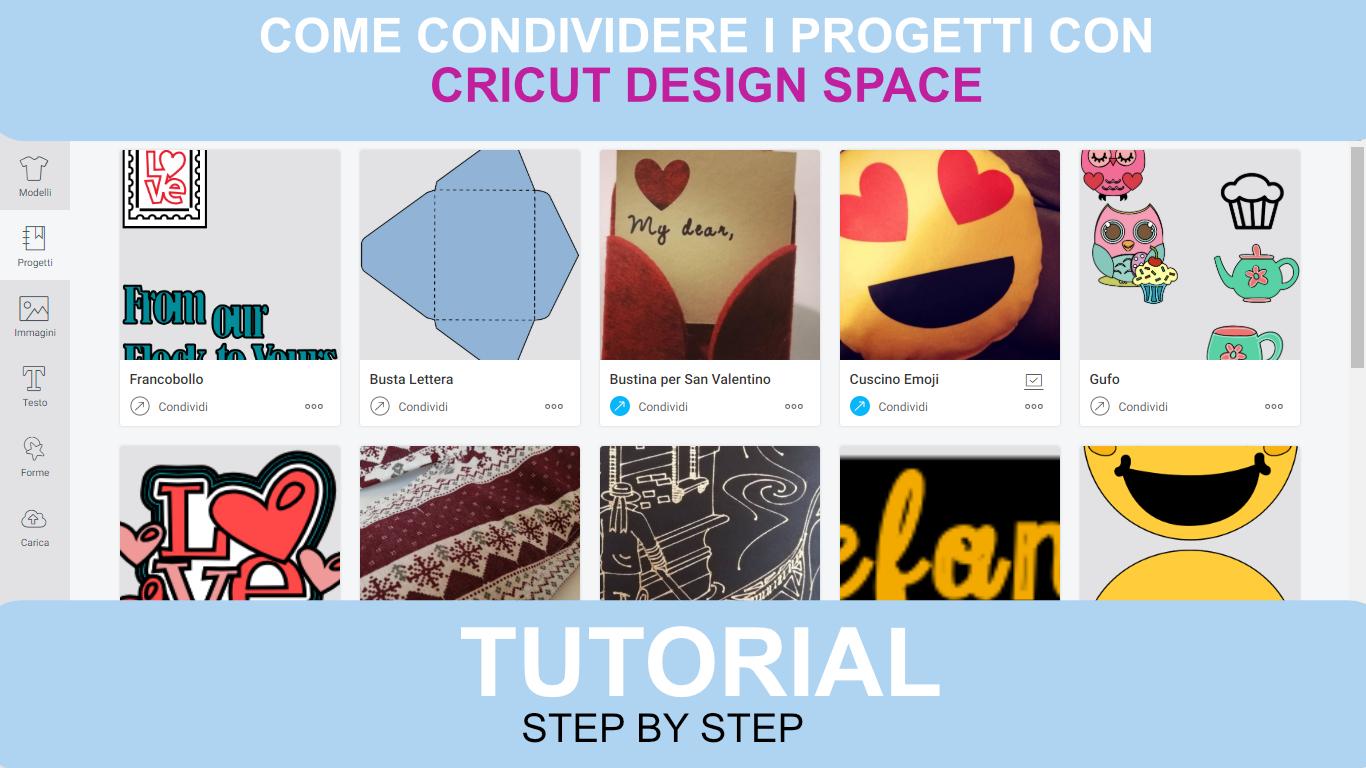 Come condividere i progetti con Cricut Design Sapce