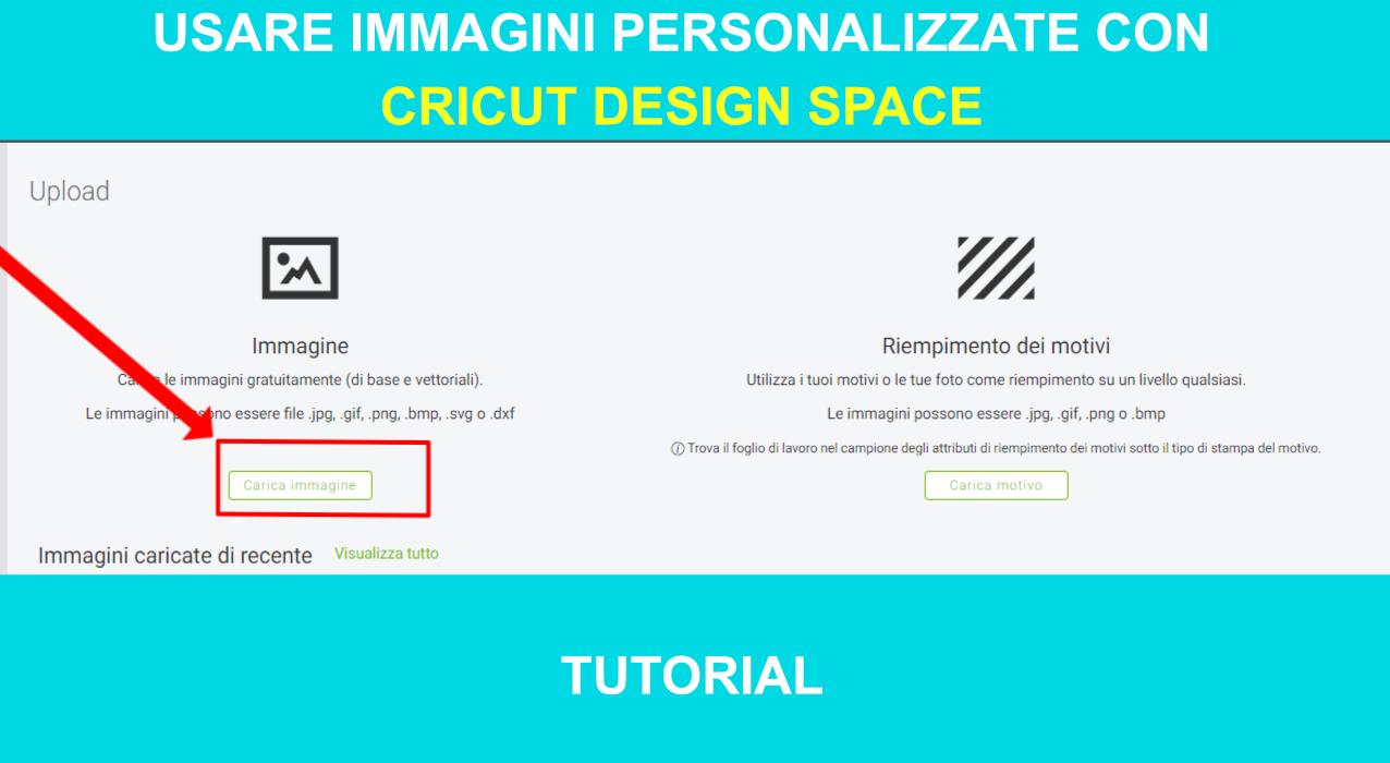 Immagini personalizzate Cricut Design Space