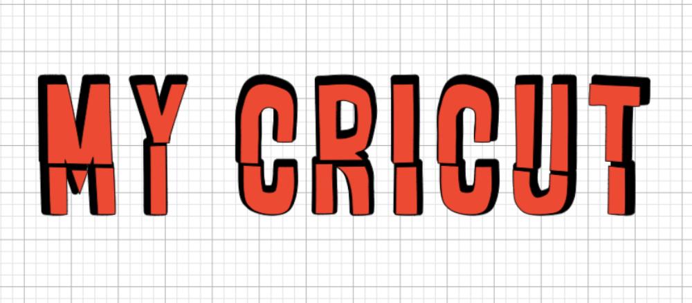 Come aggiungere un'ombra a un testo con Cricut Design Space