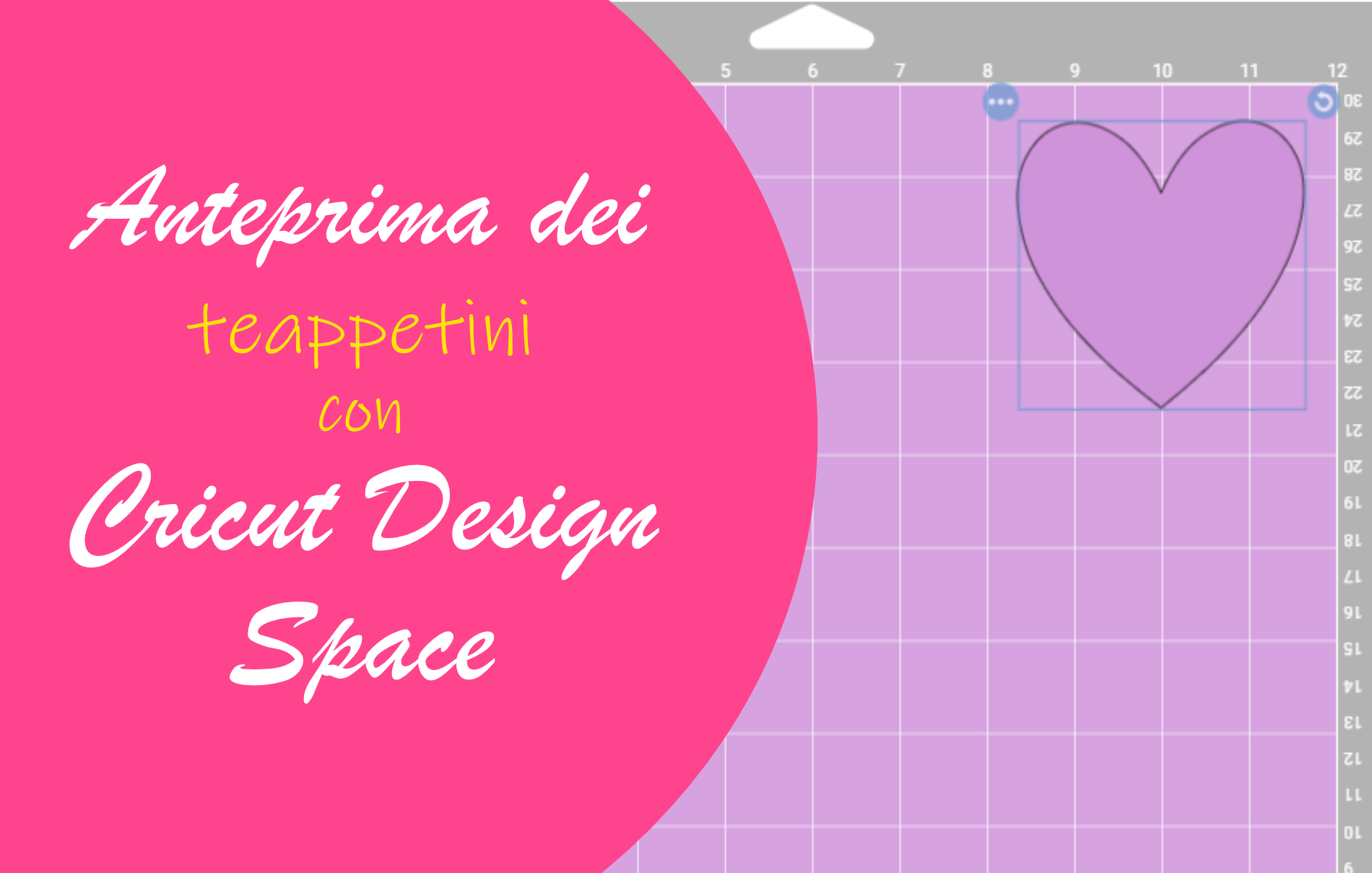Anteprima tappetini Cricut Design Space