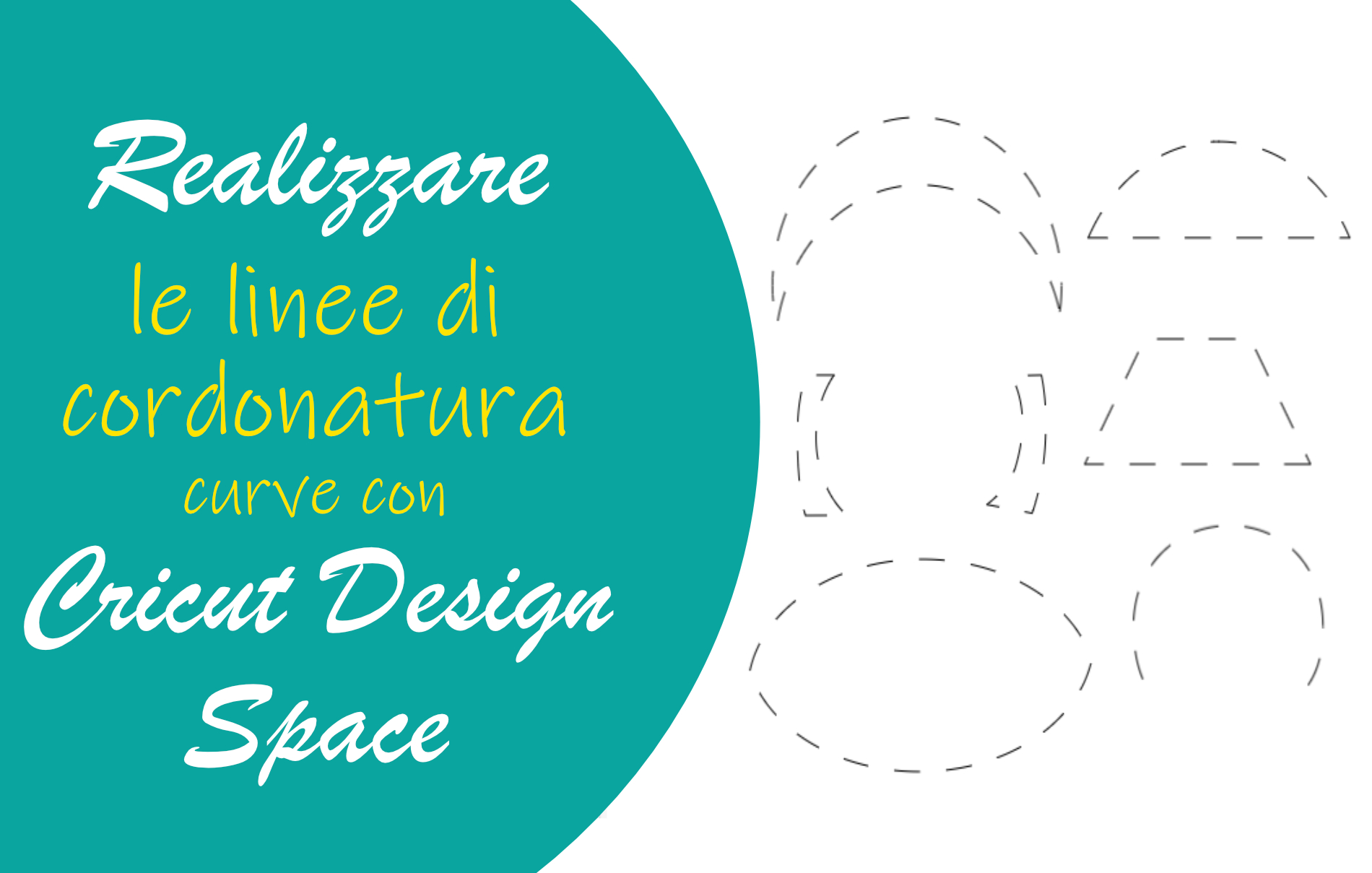 linee di cordonatura curve cricut design space