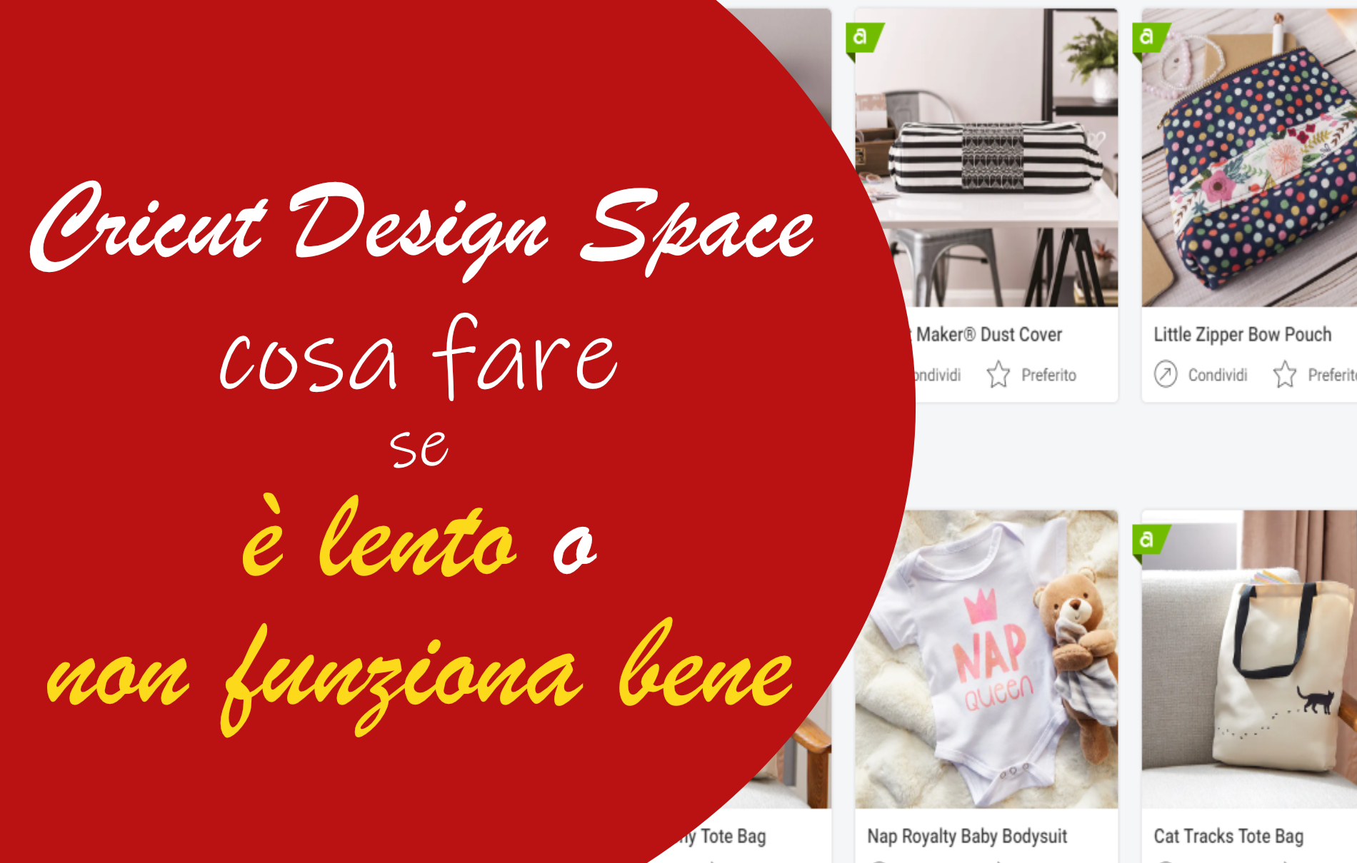 Cricut Design Space si blocca è lento