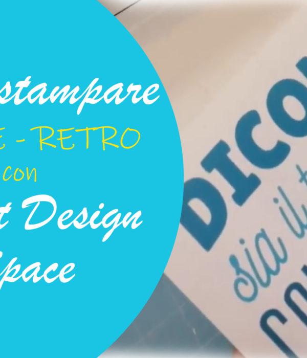 stampa fronte retro Cricut Design Space