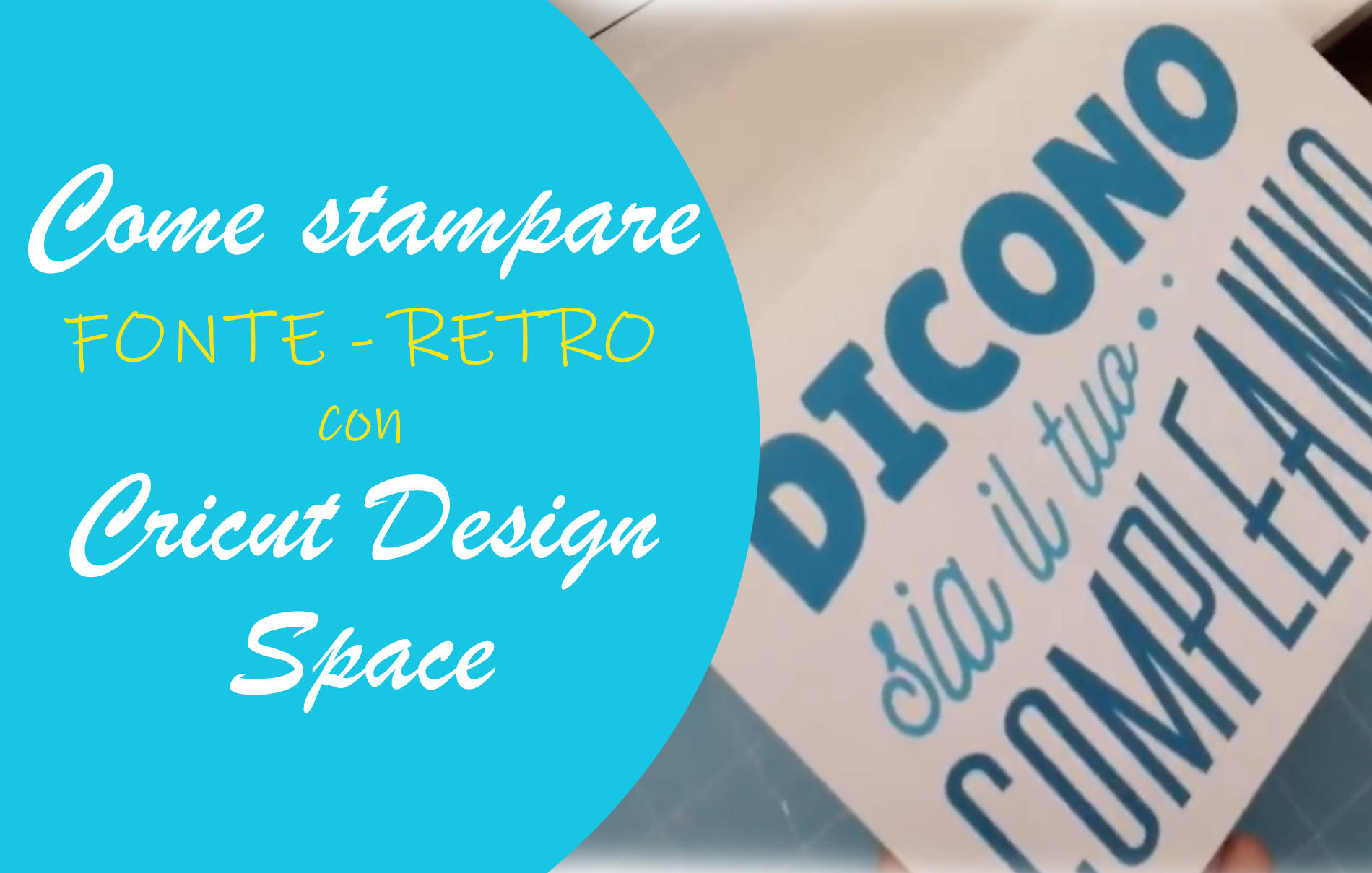 stampa fronte retro Cricut Design Space