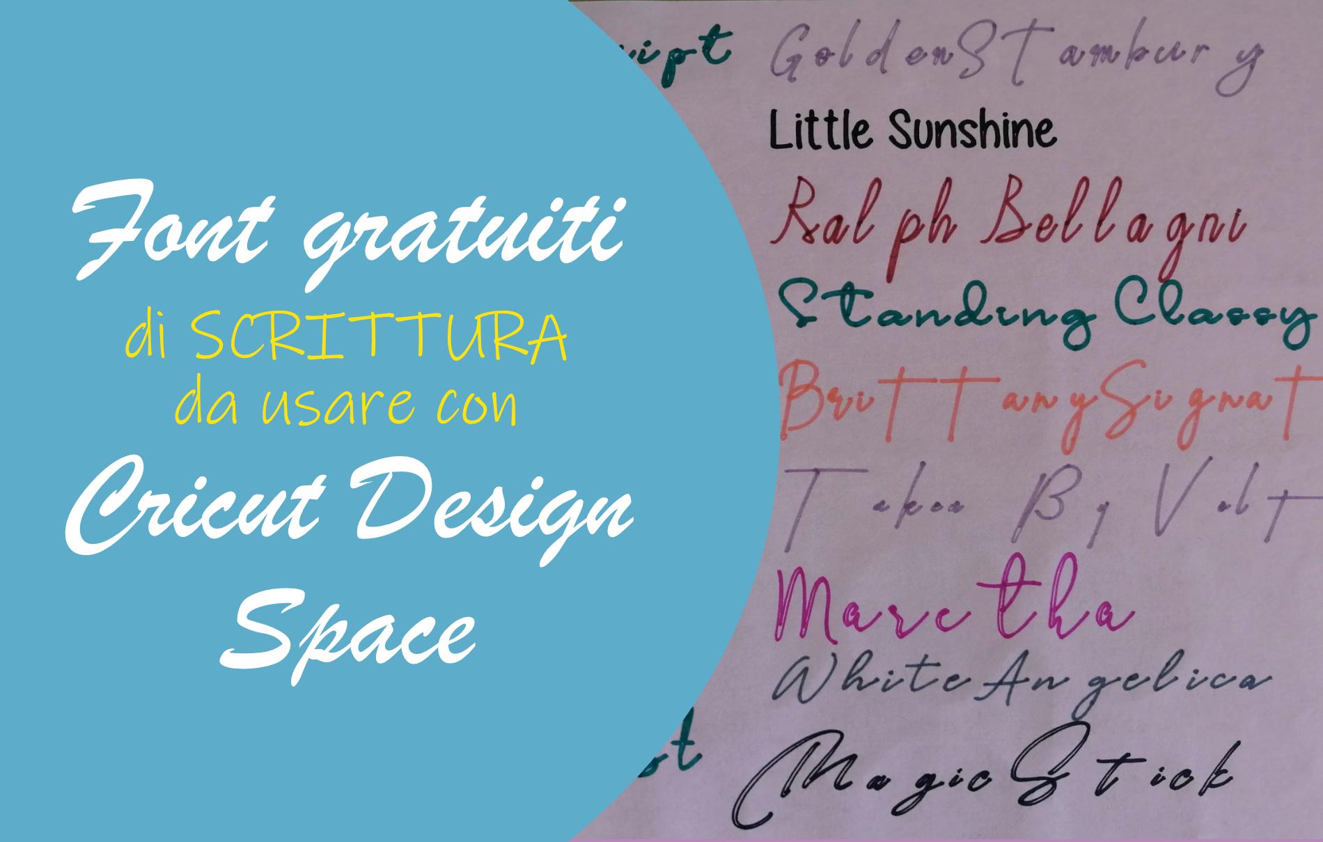 font gratuiti scrittura cricut design space