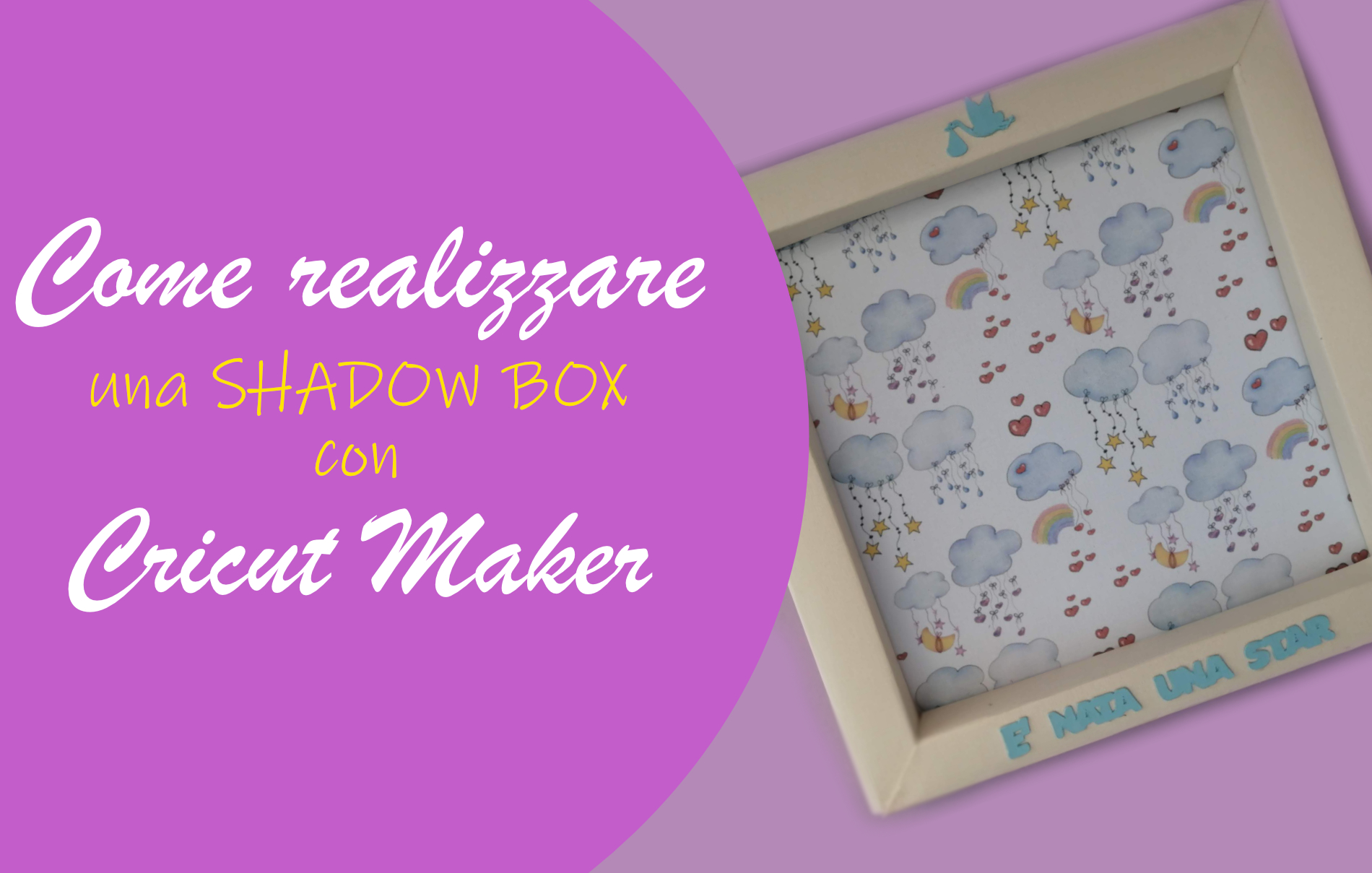 Come realizzare una shadow box con Cricut Maker