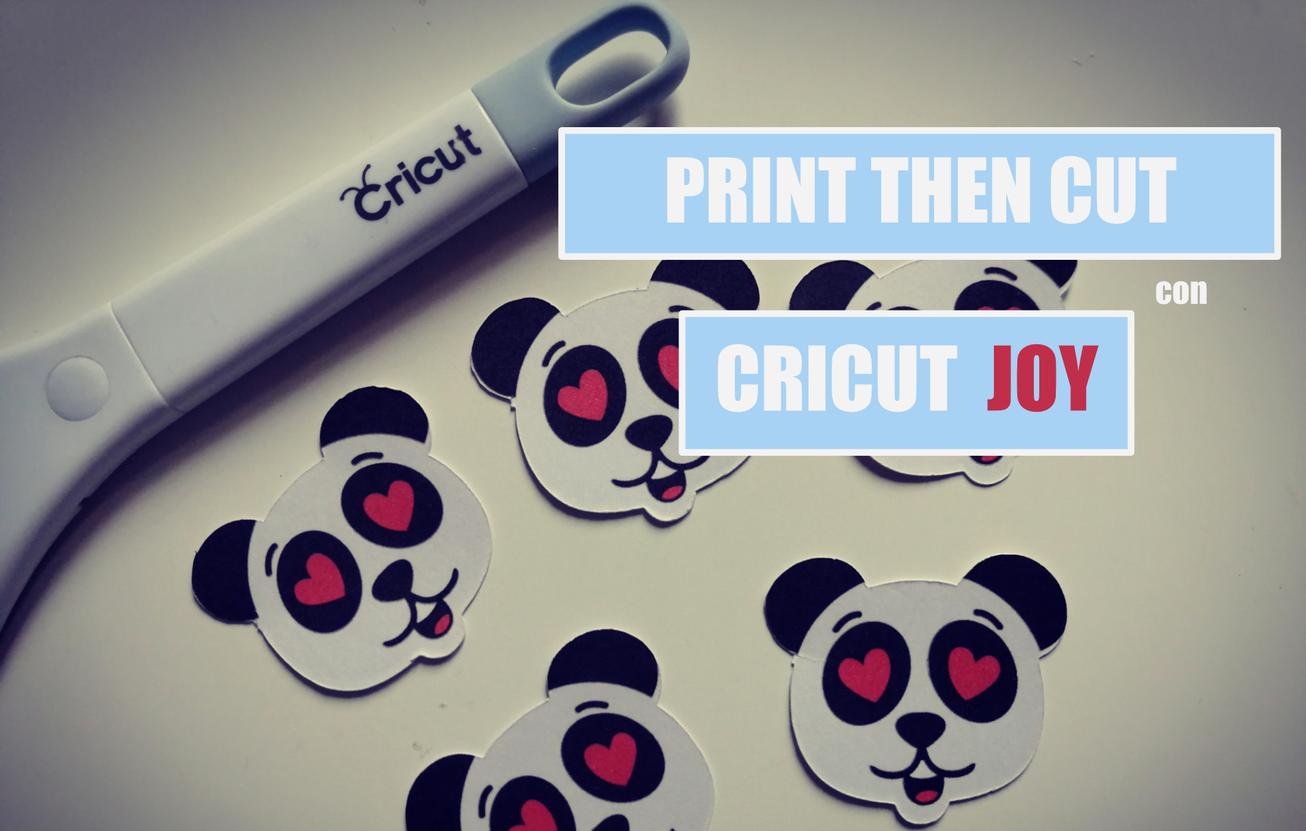print then cut stampa e taglia Cricut Joy