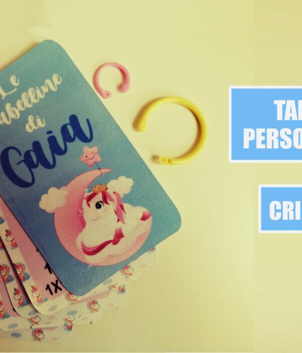tabelline personalizzate cricut