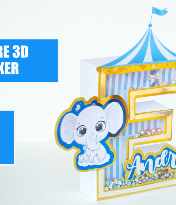 LETTERE 3D SHAKER CRICUT