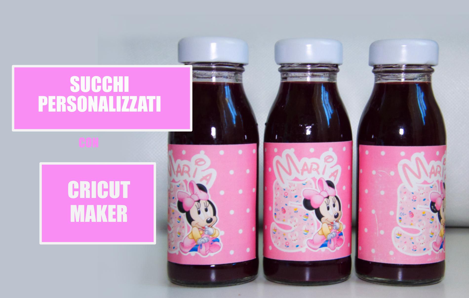 succhi di frutta personalizzati cricut