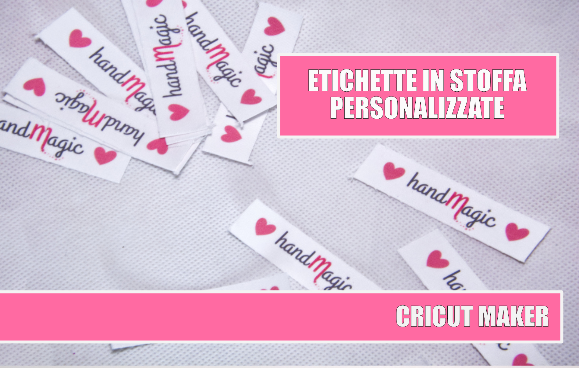 Etichette in stoffa personalizzate Cricut
