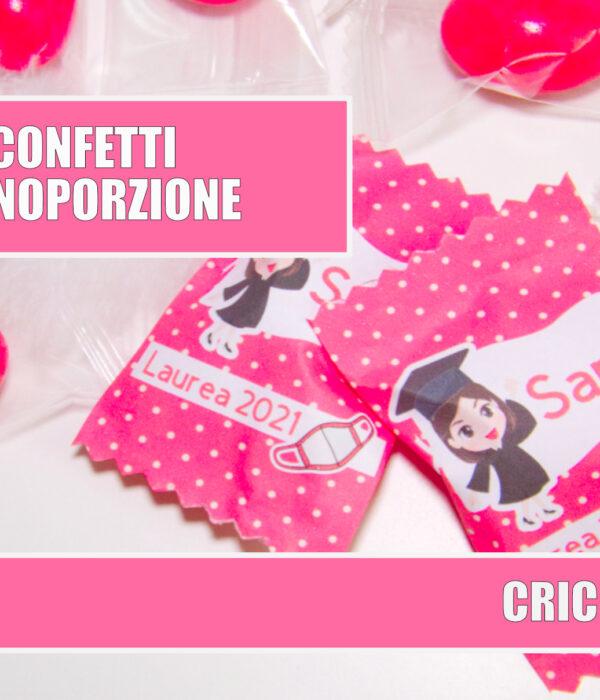 Confetti monoporzione personalizzati cricut