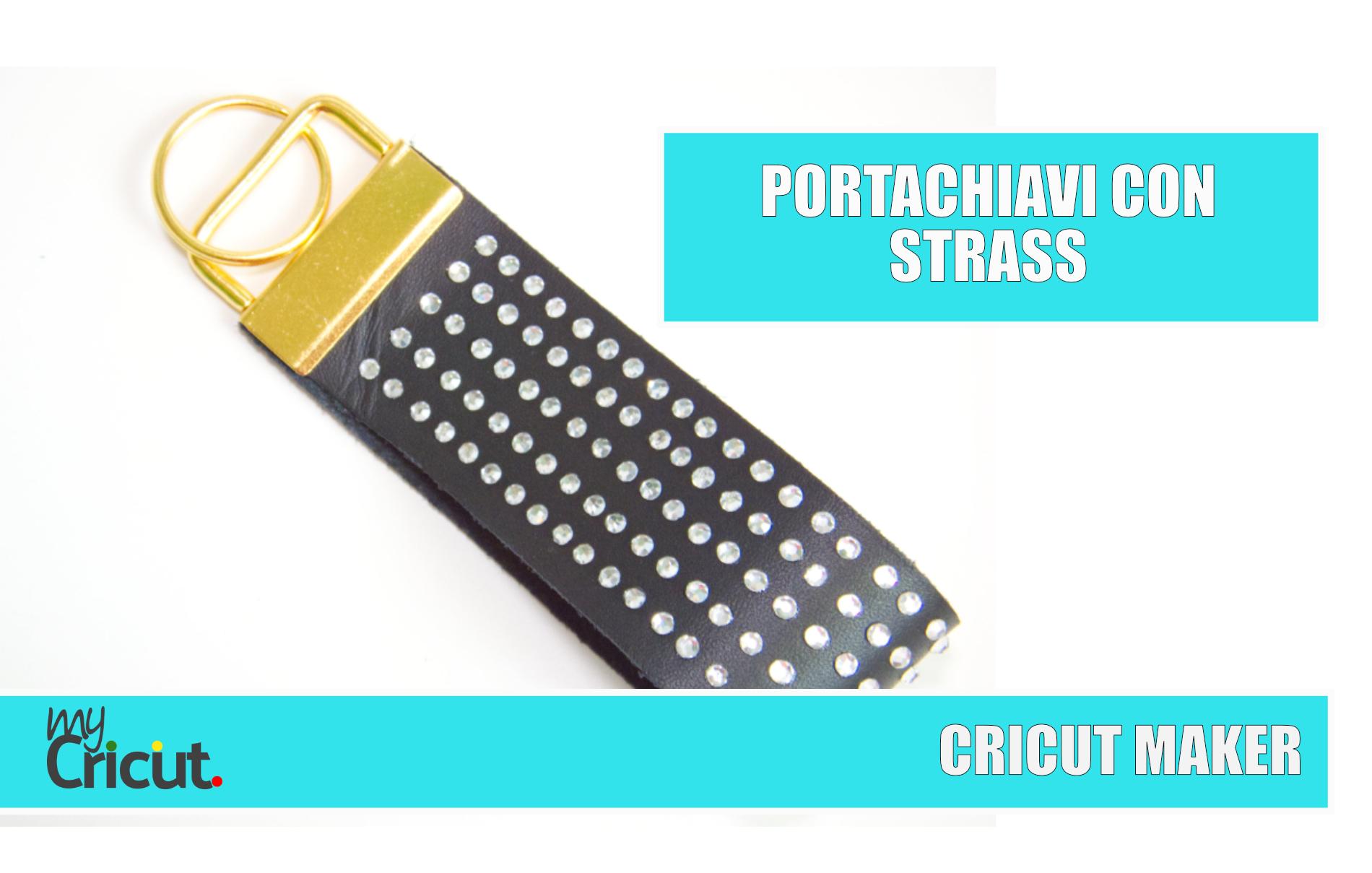 PORTACHIAVI PELLE STRASS CRICUT